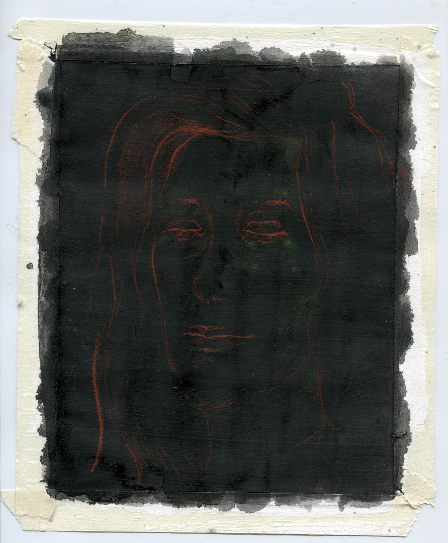 Susan Sontag Portrait Drawing 2012