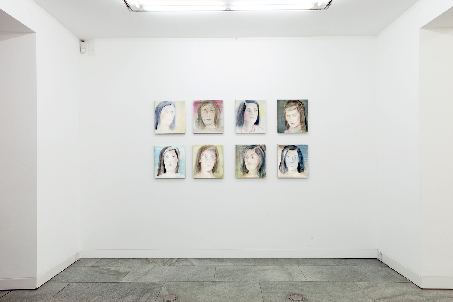 Susan Sontag Portrait Paintings Istall 2013